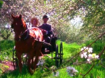 アンを乗せた馬車は緑の切妻の家へと向かう