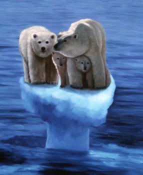 極北では温暖化が加速中