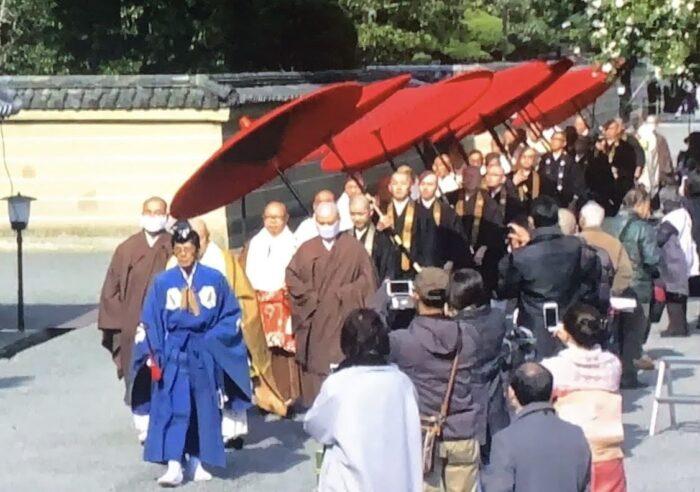 後七日御修法僧侶入場